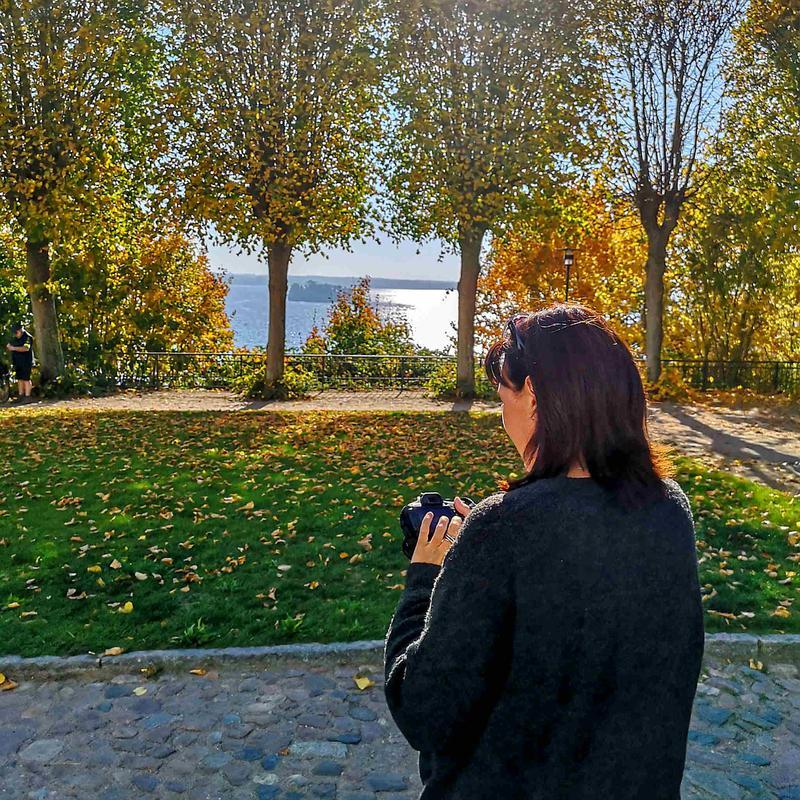 Jana Stübing beim Fotografieren