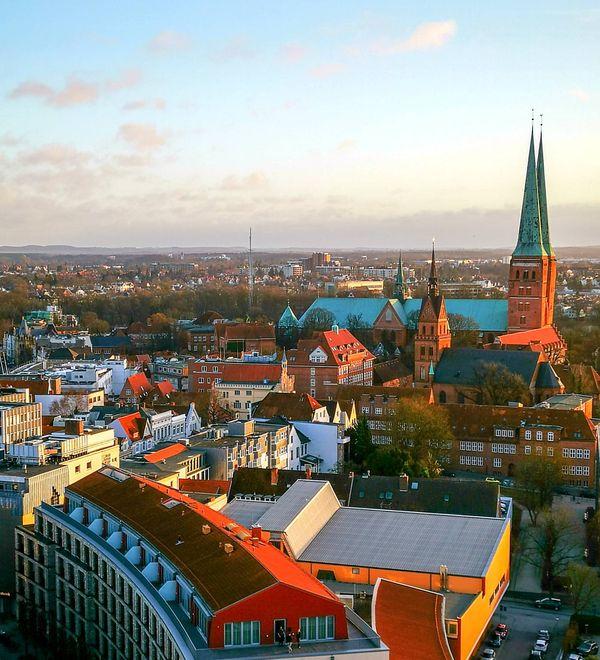 Ausblick von der Kirche St. Petri in Lübeck