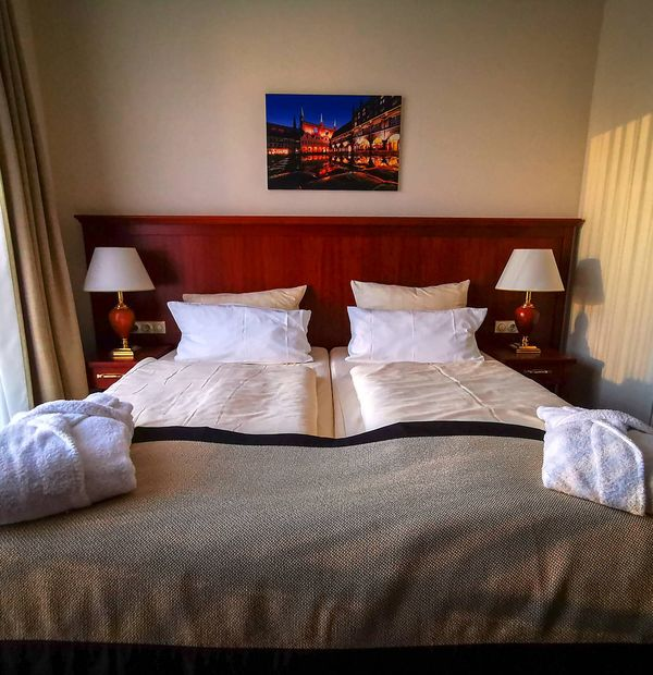 Zimmer im Hotel Hanseatischer Hof in Lübeck