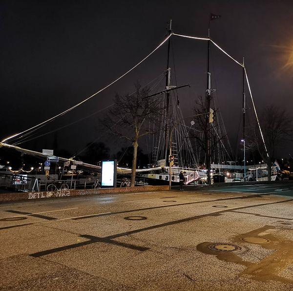 Die Trafe mit Schiffen in Lübeck