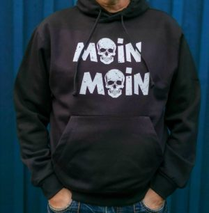 maritimer Hoodie Moin Moin mit Totenkopf