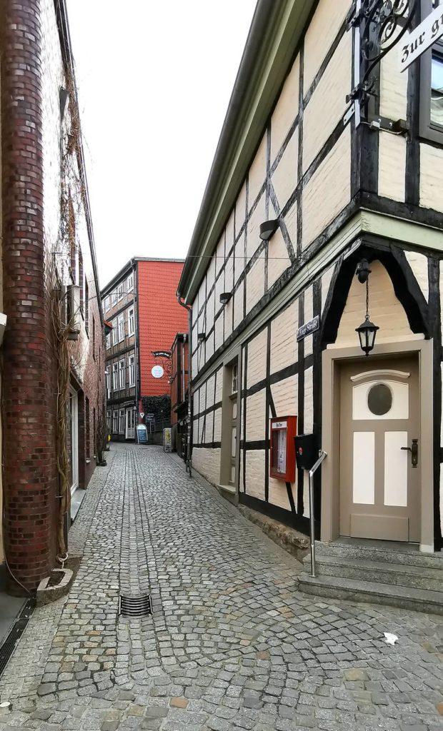 Enge Straße in Schwerin