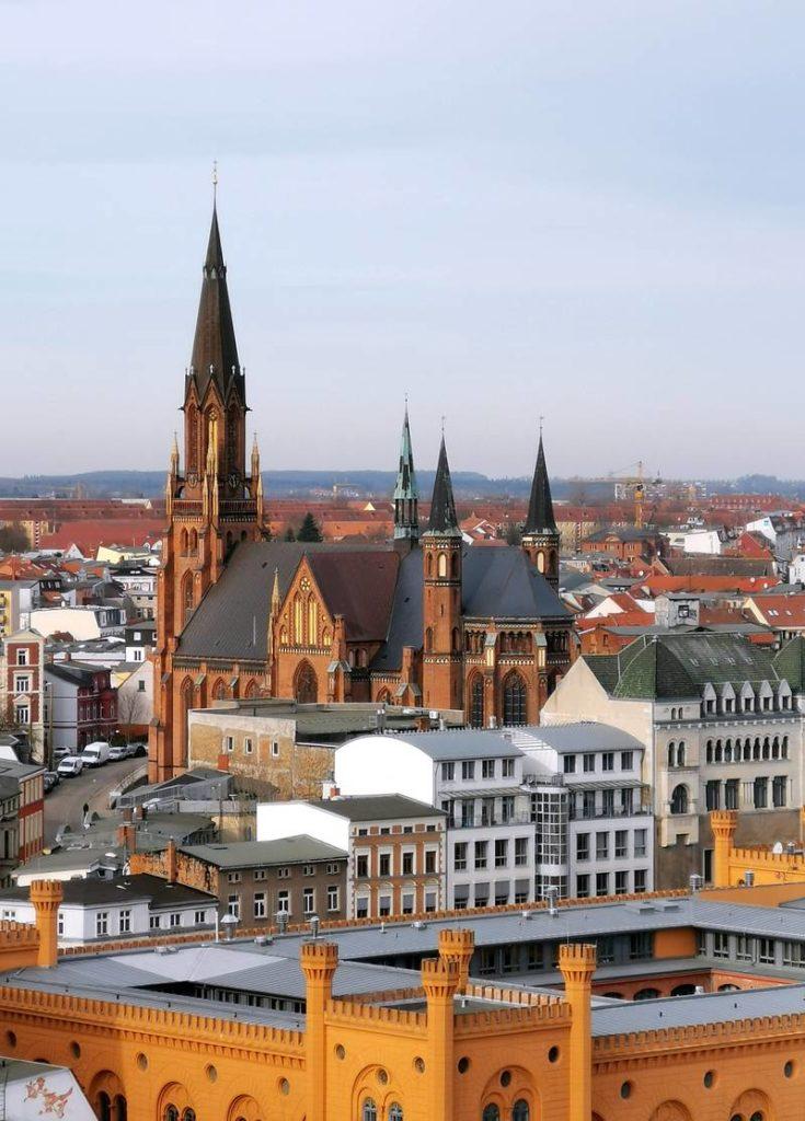 Blick vom Kirchturm Schweriner Dom