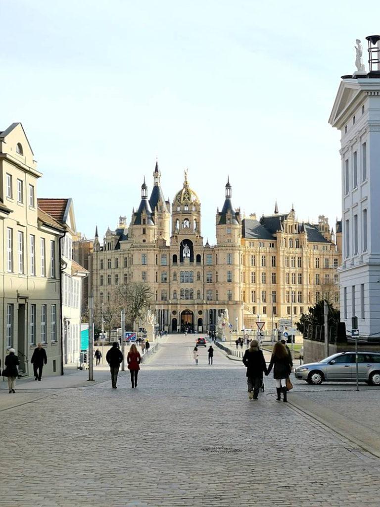 Blick auf das Schweriner Schloss